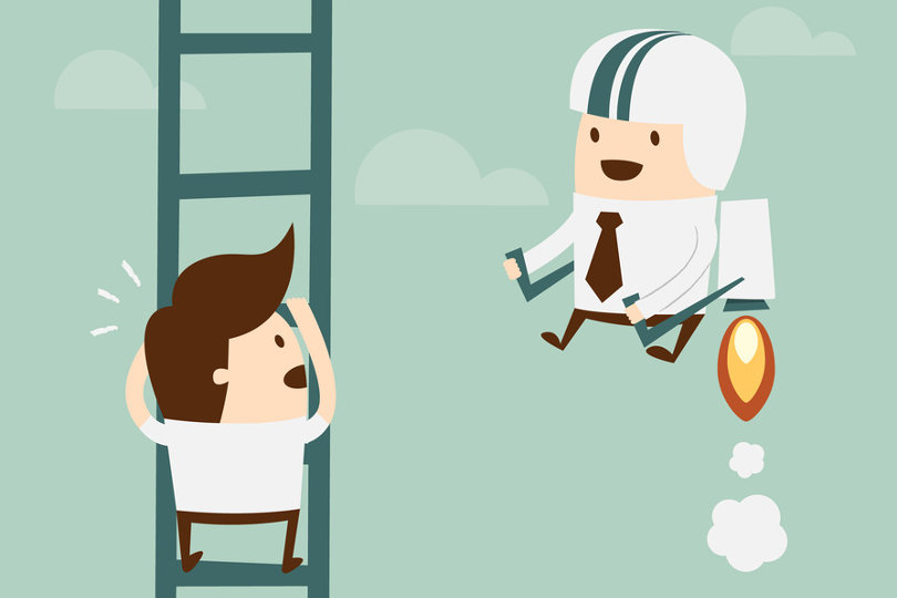 Climbing the career ladder - and the competition