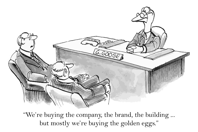 Business acquisition funny cartoon