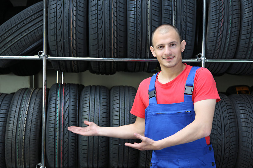 Tyre shop owner
