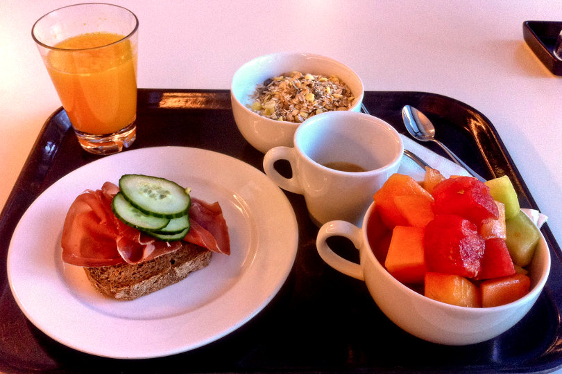 Healthy breakfast at Google cafetaria