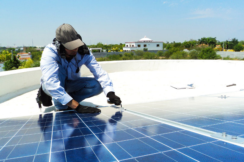 Solar panel installation business