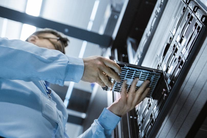 IT engineer upgrading server